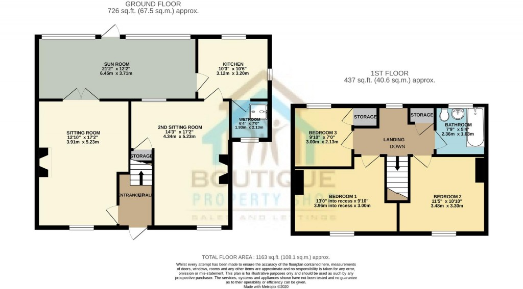 Floorplans For Castlegarth, Thornton-Le-Dale, Pickering