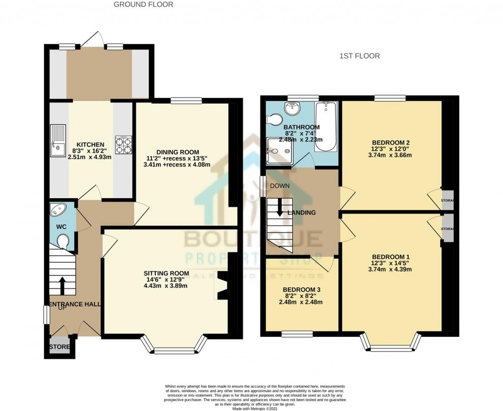 Floorplans For Wilton Road, Thornton-Le-Dale, Pickering